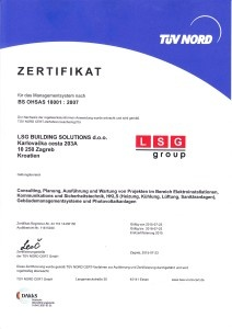 LSG BUILDING SOLUTIONS OHSAS GER