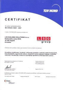 LSG BUILDING SOLUTIONS OHSAS HRV